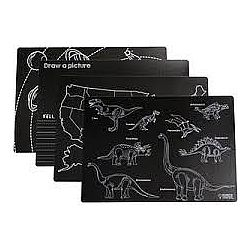 Chalkboard placemats learning pack 4pk