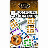 Double 9 Tin Dominoes