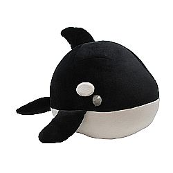 Cuddle pals round whale orca