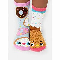 Pals Socks Size 4-8 Years Donut & Ice Cream