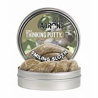 CA Thinking Putty Smiling Sloth Sparkle 3.2oz Tin