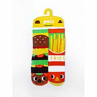 Pals Socks Size 4-8 Years Burger & Fries