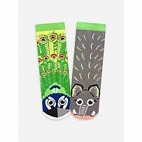 Pals Socks Size 4-8 Years Elephant & Peacock