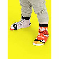 Pals Socks Size 4-8 Years Raccoon & Cardinal