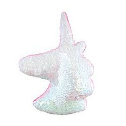 Unicorn Head Sequin Pillow